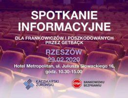 Spotkanie informacyjne dla Frankowiczów i poszkodowanych przez GetBack